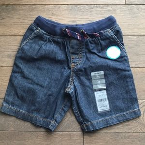 NWT Boys Drawstring Jean Shorts